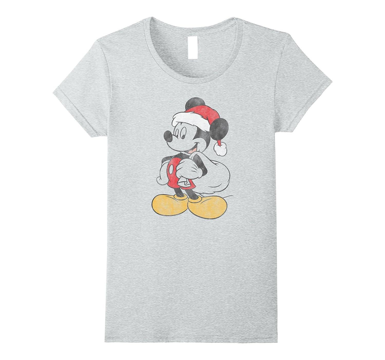 Mickey Mouse Santa Christmas T Shirt-Teechatpro