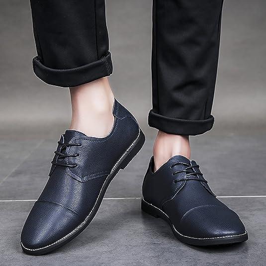 QLVY Zapatos de Cuero de Hombre Mocasines de Oxford Casuales Zapatos de Pareja Masculinos y Femeninos: Amazon.es: Zapatos y complementos