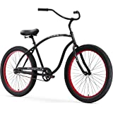 Firmstrong Chief 3.0 Man Single Speed Beach Cruiser Bicycle, 26-Inch/XX-Large, Matte Black