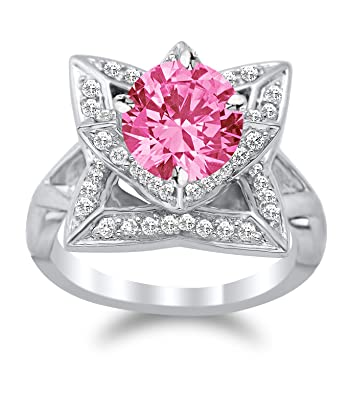 morganite rose jewelry diamond wedding product pink size watches engagement plated ring stone rings gold