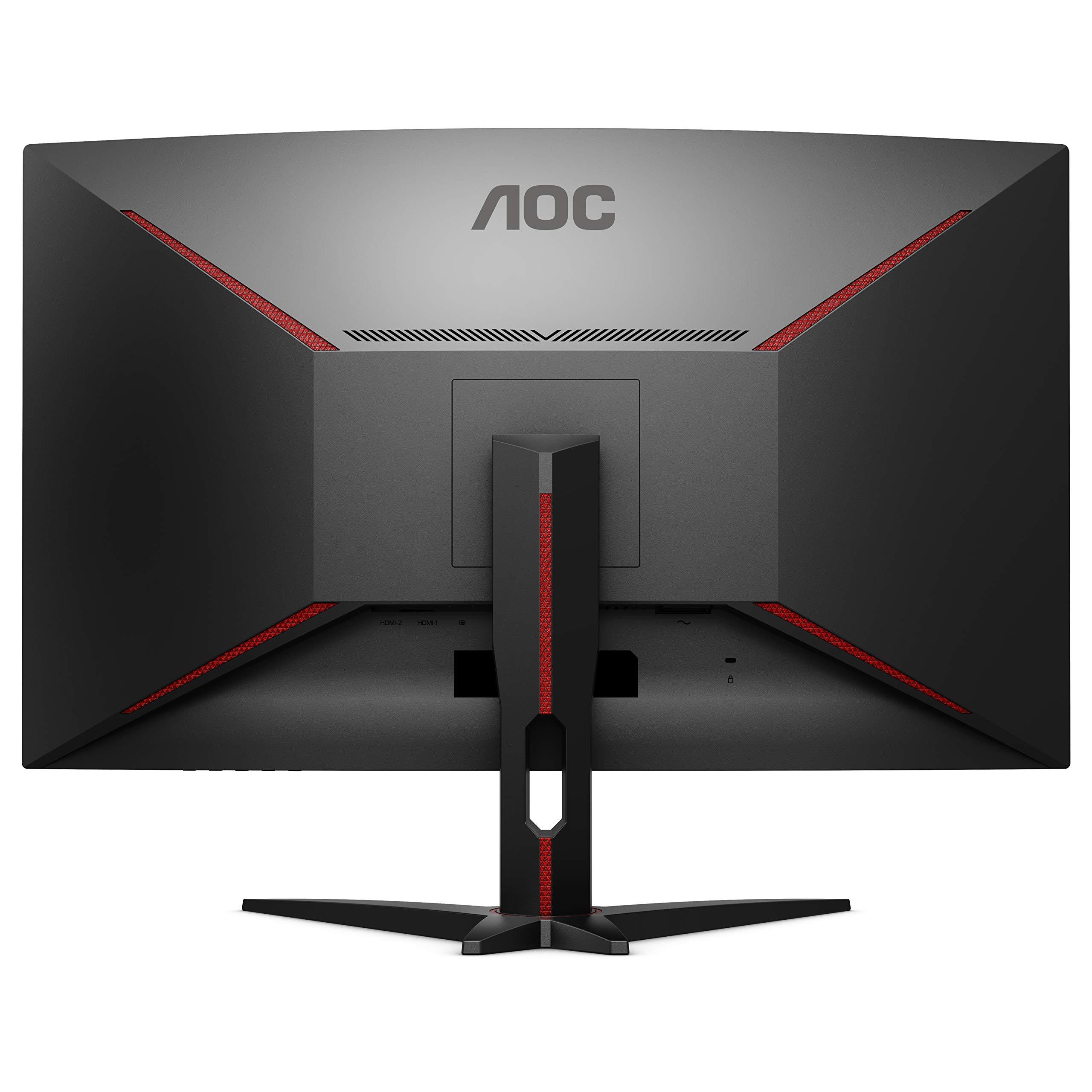 AOC C32G1 31.5'' Curved Frameless Gaming Monitor, FHD 1920x1080, VA Panel, 1ms MPRT, 144Hz, FreeSync, DisplayPort/HDMI/VGA, VESA by AOC (Image #1)