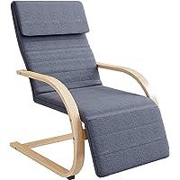 HOMECHO Silla Mecedora Cómoda Relajado con Reposapierna Ajustable en 3 Posiciones Sillón de Relax para Salón, Dormitorio…