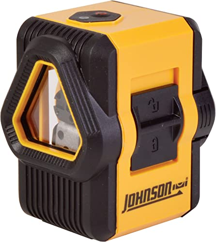 Johnson Level Tool 40-6648 Self-Leveling Cross and Line Laser Cross-Line Laser and Additional 90 Degree Plumb Line