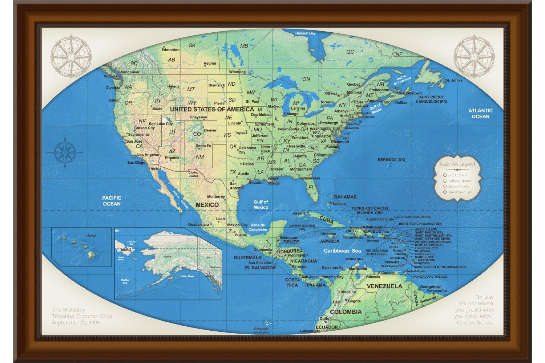 Amazon.com: Personalized United States Travel Map - Custom US ...