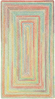 product image for Capel Rugs Baby's Breath 11 x 14 Rectangle Braided Area Rug (Light Green)