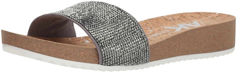 Anne Klein Women's Qtee Slide Sandal B07941HDLR 6 B(M) US Light Pewter Synthetic