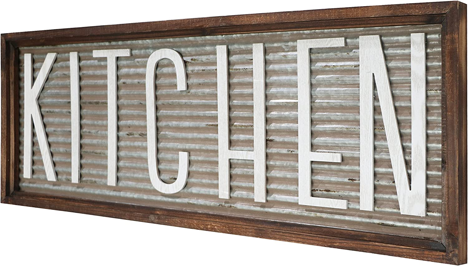 "Kitchen Wall Decor Sign, Rustic Vintage Farmhouse Country Decoration for  Kitchen Wall, Counter, Door and Pantry 9"" x 9"""