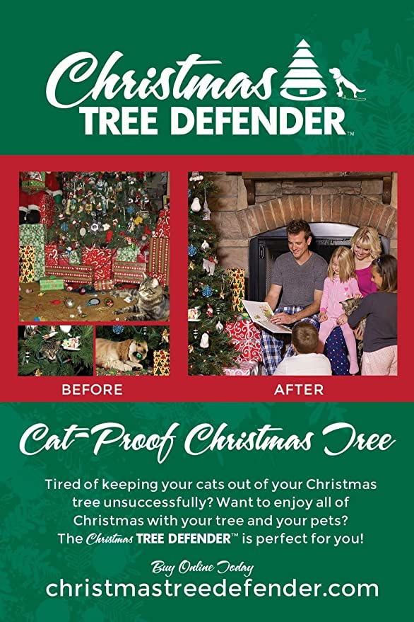 Amazon.com : Christmas Tree Defender & Potted Plant Protector 48 ...