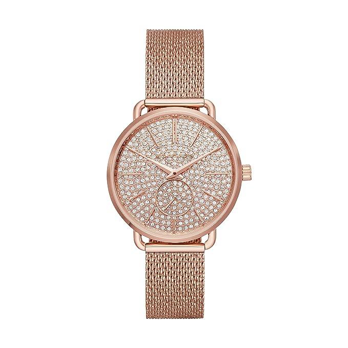 d572ca705999 Amazon.com  Michael Kors Women s Portia Rose Gold Tone Satinless Steel Watch  MK3878  Watches