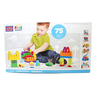Learning Building Fun! Mega Bloks First Builders 75 pcs K-Mart Exclusive: Toys & Games