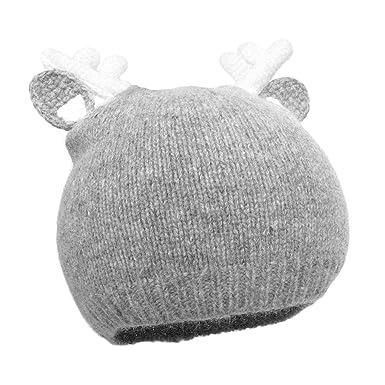 51fd0b4010f4 papapanda Enfants Bonnet en tricot bonnet d hiver coton Beanie Bonnet  Casquette muetze Renne de