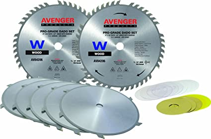 Avenger av 84206 stack dado set 8 inch by 42 tooth 58 inch arbor avenger av 84206 stack dado set 8 inch by 42 tooth 5 greentooth Choice Image
