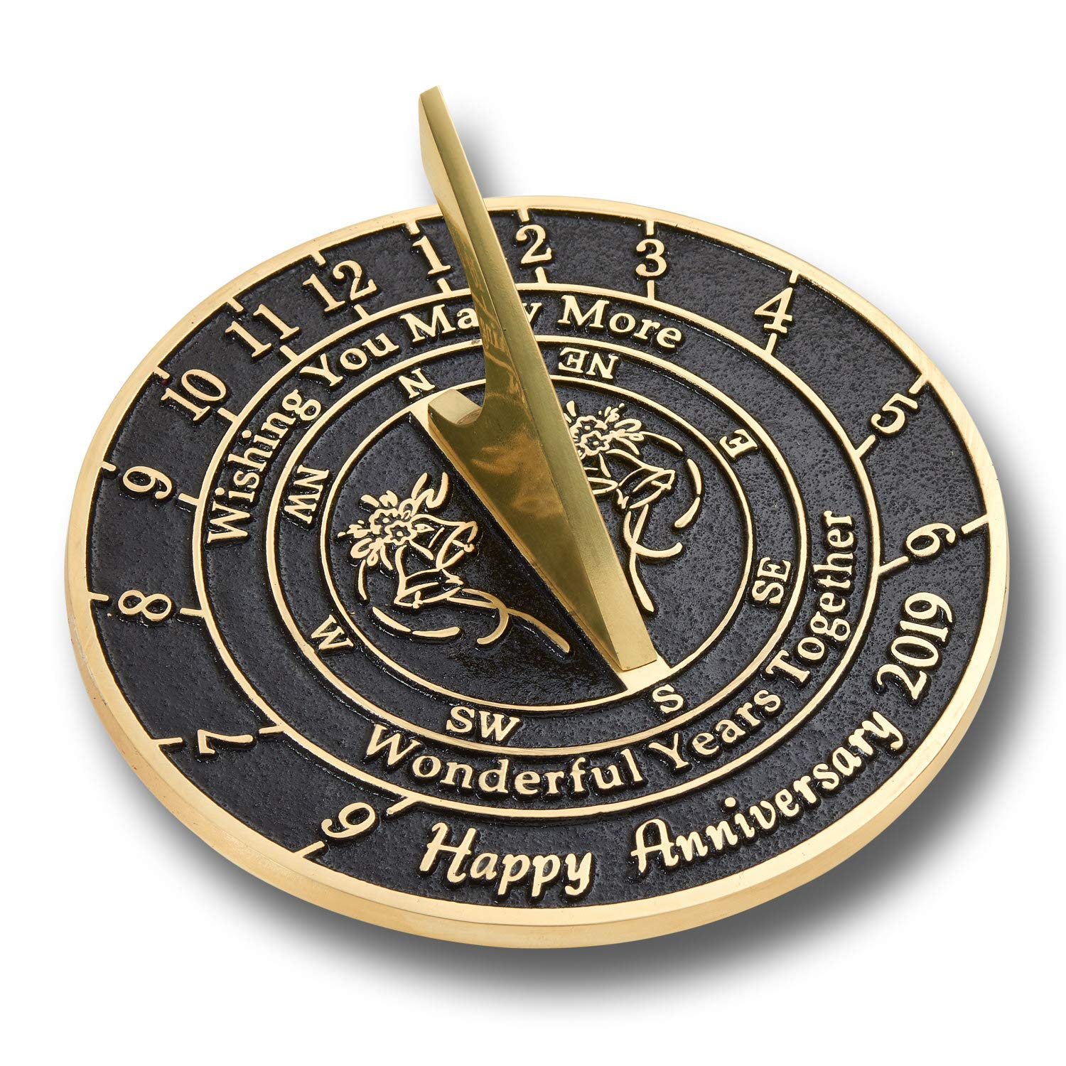 ANTIQUECOLLECTION 'Wishing You' Wedding Anniversary Sundial Gift
