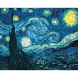 Vincent Van Gogh Starry Night Night Decorative Fine Art Poster Print, Unframed 16x20