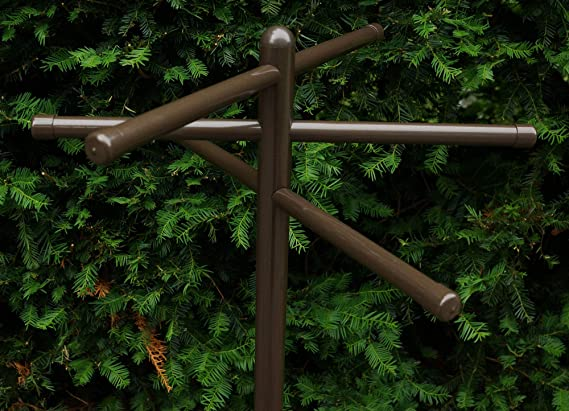 Outdoor Lamp company 401BRZ Portable Outdoor 3 Bar Towel Tree Bronze