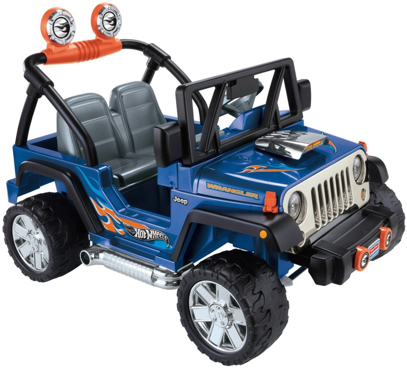 Power Wheels Hot Wheels Jeep Wrangler, Blue (12V) by Power Wheels (Image #6)