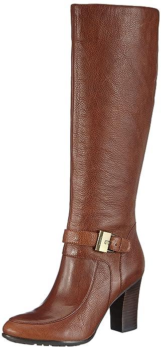 Rein Buffalo Damen Stiefel Stiefel Langschaft Braun Mittel