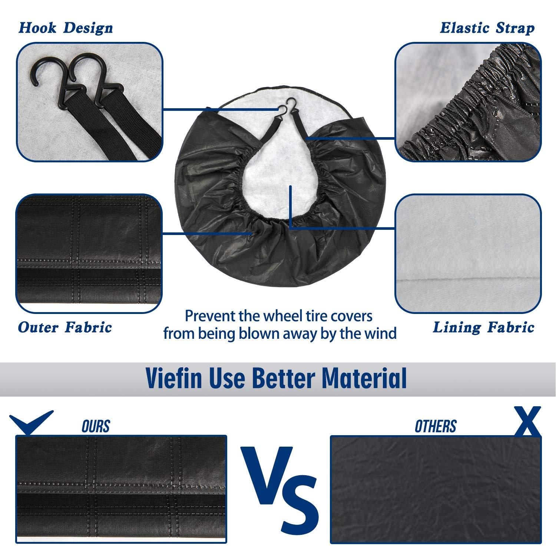 Waterproof UV Sun RV Trailer Tire Protectors Fit 24 to 41 Truck Camper Van Auto Car Tires Diameter VIEFIN Set of 4 Wheel Tire Covers