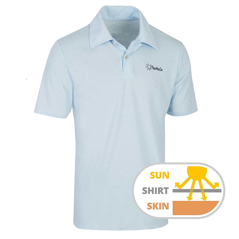 TanMeOn durchbräunendes Polo Shirt für Herren. Unter Dem Poloshirt Braun  Werden; Ideal für Golf