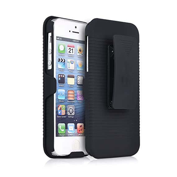 official photos 5b74f e7719 iPhone 5s/SE Holster Case, igooke Combo Super Slim Sport Case with Holster  Kickstand and Swivel Belt Clip for Apple iPhone 5S/SE (iPhone 5s/SE)