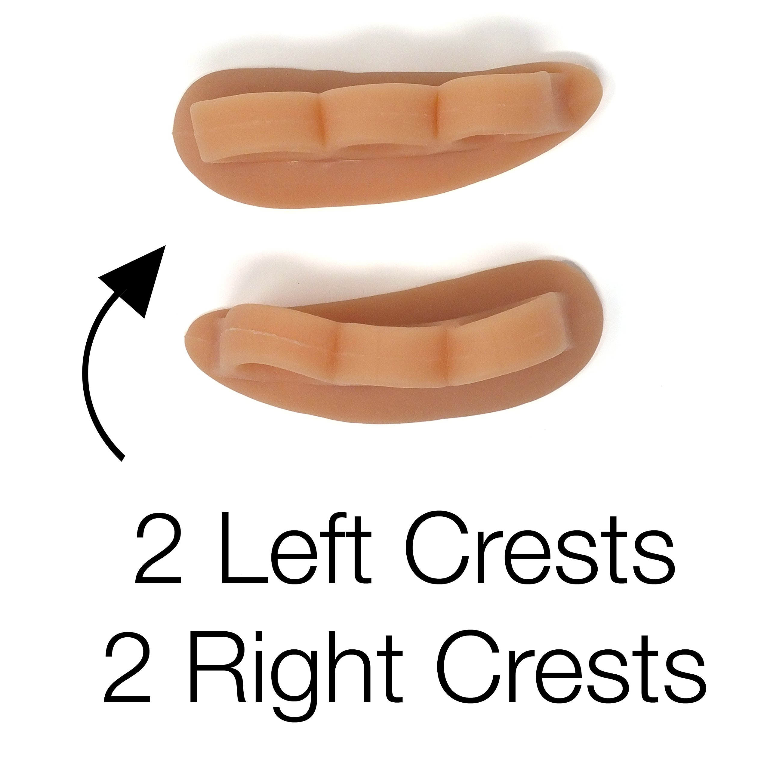 ZenToes Hammer Toe Straightener and Corrector 4 Pack Soft Gel Crests Splints | Reduce Foot Pain, Prevent Overlap | Flexible Footcare Treatment | Stain, Odor Resistant (Beige) by ZenToes (Image #4)
