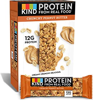 product image for KIND Protein Bars, Crunchy Peanut Butter, Gluten Free, 12g Protein,1.76oz, 12 count