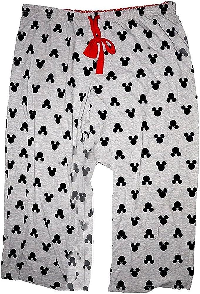Grey Mickey Head Silhouette Disney Classic Mickey Mouse Womens Pajama Pants