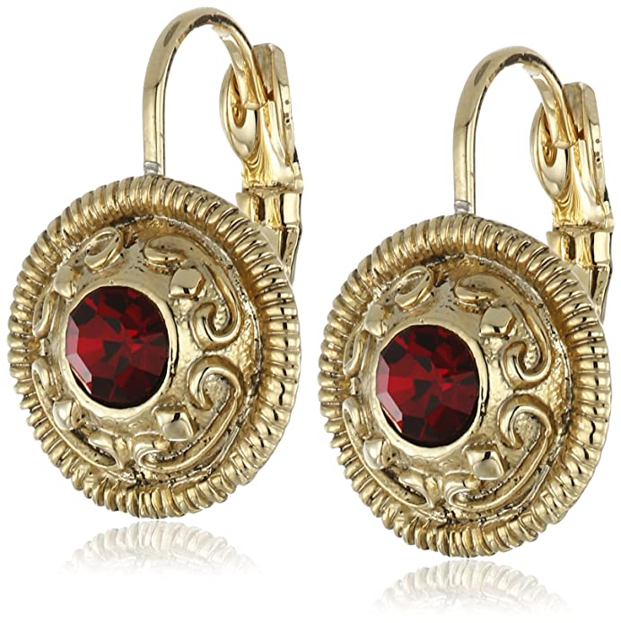 Vintage Style Jewelry, Retro Jewelry 1928 Jewelry Silver-Tone Round Drop Earrings $17.37 AT vintagedancer.com