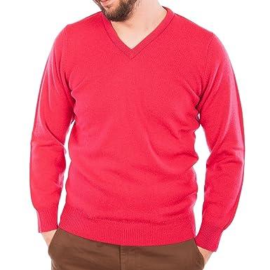 Hawick Knitwear Men's Lambswool V-Neck Plain Pullover Grenadine ...