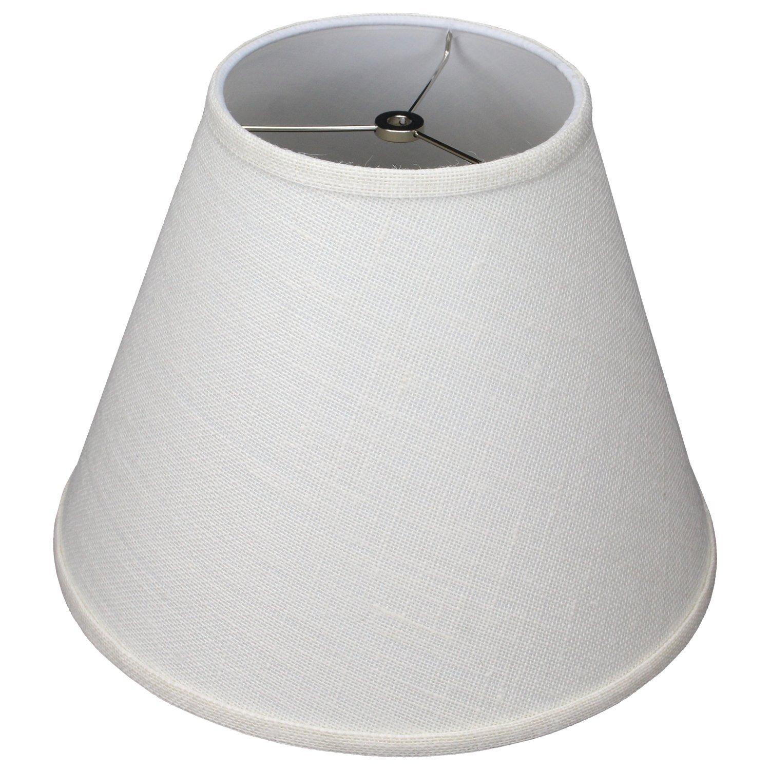 FenchelShades.com 7'' Top Diameter x 14'' Bottom Diameter 10'' Slant Height Lampshade USA Made (Burlap Off White)