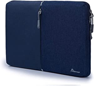 SIMTOP Laptop Sleeve Case with 13-inch New MacBook Air with Retina Display A1932 A2179, 13 Inch MacBook Pro w/USB-C A2251 A2289 A2159 A1989 A1706 A1708, Laptop Bag with Accessory Pocket