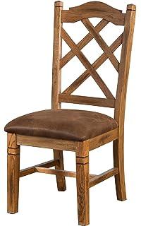 Sunny Designs 1415ro Sedona Double Crossback Chair Rustic Oak Finish