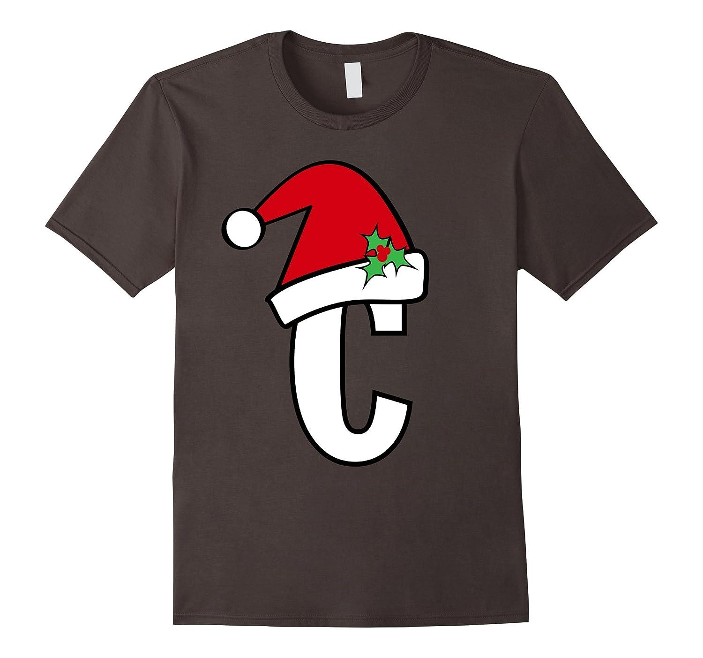 Santa Letter C Shirt, Cute Christmas Monogram Spell Gift