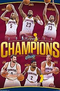 Trends International 2016 Nba Finals-Champions (24x36) Premium Wall Poster, 22.375