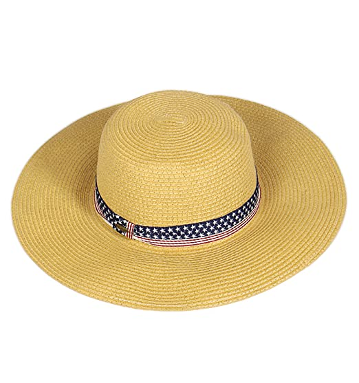 c43e507ef Beach Hats for Women   Wide Brim Summer Sun hat   Floppy Paper Straw UPF  Sun Protection   Travel Outdoor Hiking