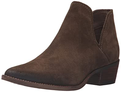 Steve Madden Women's Austin Ankle Bootie, Olive Suede, ...