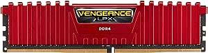 Corsair Vengeance LPX 16GB (2x8GB) DDR4 DRAM 2666MHz (PC4-21300) C16 Memory Kit - Red (CMK16GX4M2A2666C16R)