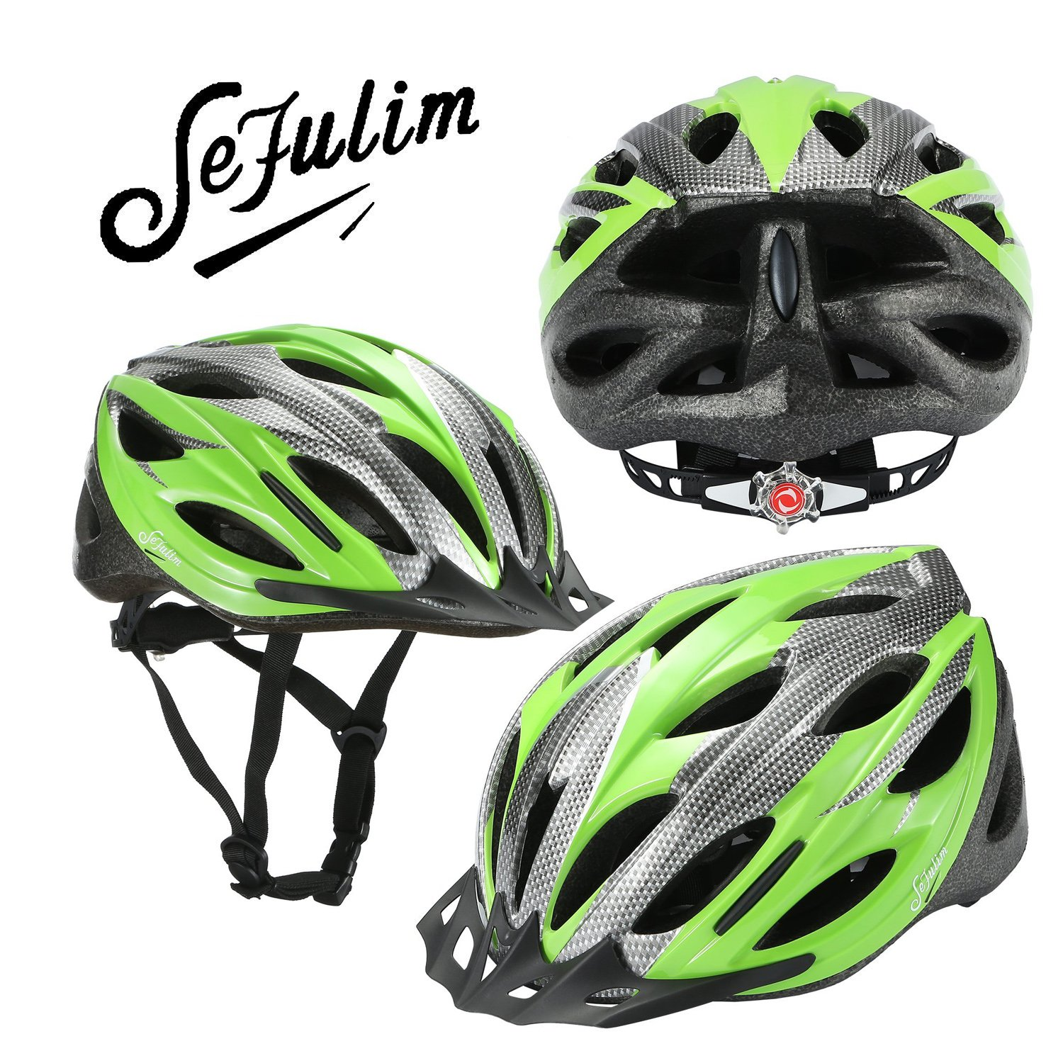 Sefulim Specialized Cycle Helmet Adult Racing Bike Cycling Helmets by Adjustable Size for Girls Boys Spectacle-wearers White (Standard)