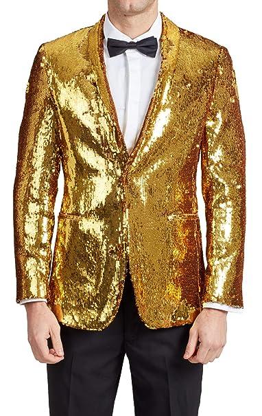 Amazon.com: Dobell - Chaqueta de lentejuelas doradas para ...