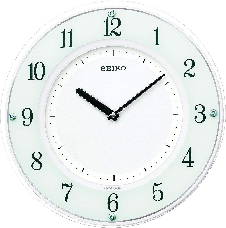 セイコー クロック 掛け時計 SOLAR+ ソーラープラス 電波 アナログ 薄型 木枠 白 SF505W SEIKO B003YFHP92