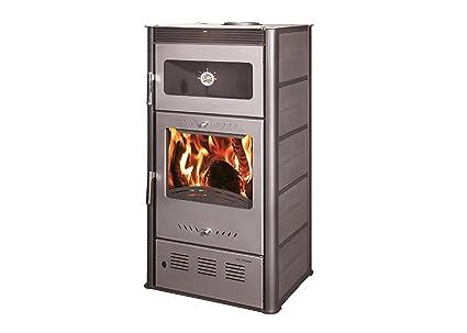 Estufa de leña ROSE con horno kW 10, bio clase eficiencia energética A+ eco calefacción