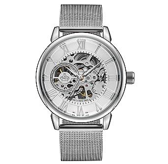 bd3489bba5 Sweetbless出品 腕時計 手巻き 3Dフルスケルトン おしゃれメンズ 重厚さと上品さを兼ね