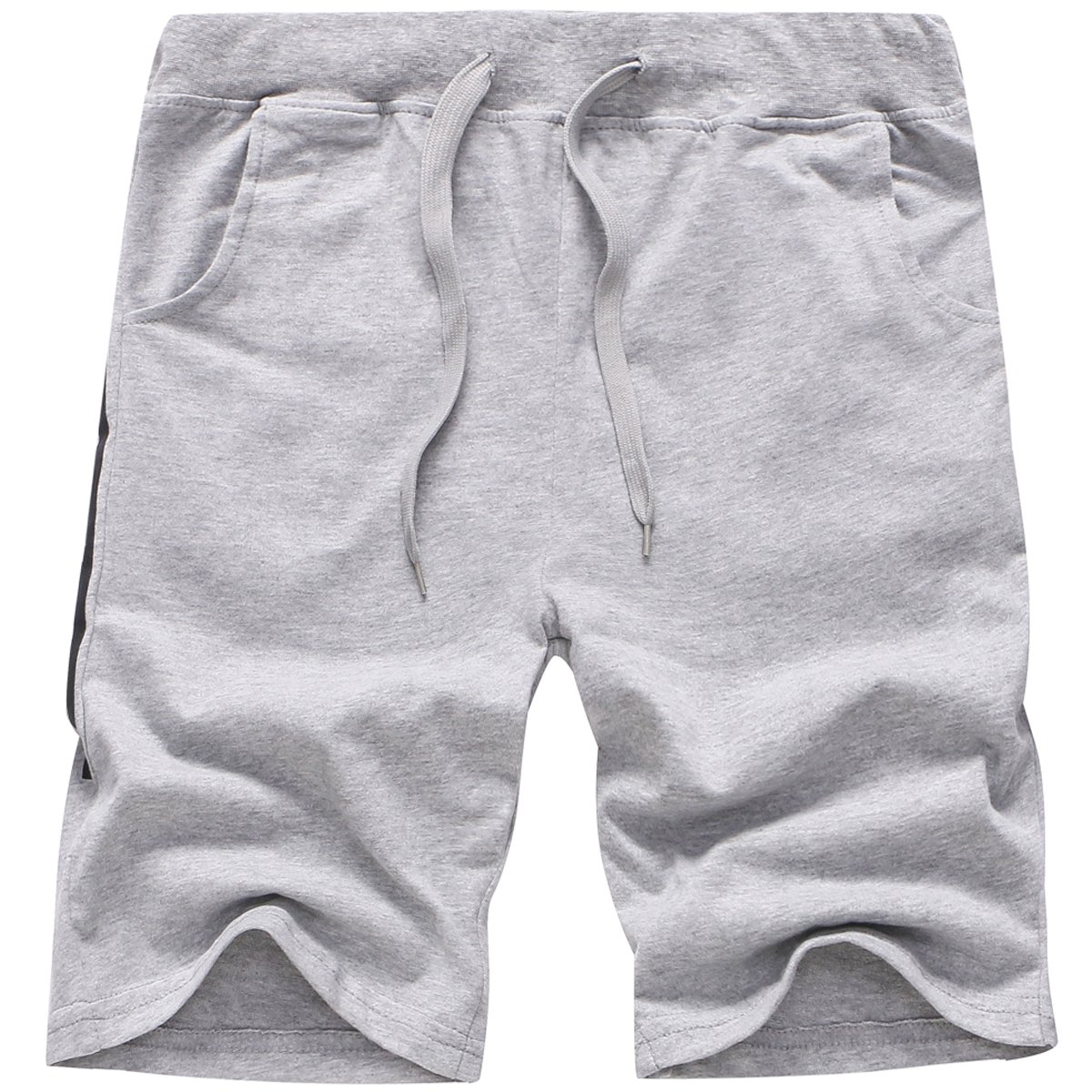 Boy's Cotton Elastic Waist Letter Print Pull On Jogger Sports Active Casual Shorts, Grey, Age 5T-6T (5-6 Years) = Tag 130