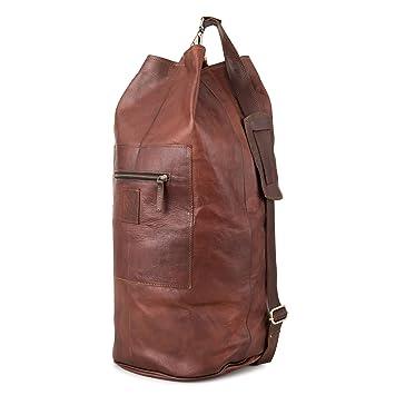 0f9f78c58cc12 Seesack BERLINER BAGS Boras Rucksack aus echtem Leder Weekender Reisetasche  Damen Herren Qualität Vintage Design Wasserdicht