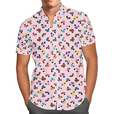 d8fb561e8 Disney Princess Mouse Ears Mens Button Down Short Sleeve Shirt at ...