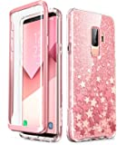 Samsung Galaxy S9 Plus Case, [Built-in Screen Protector] i-Blason [Cosmo] Full-Body Glitter Clear Bumper Case for Galaxy S9 Plus (2018 Release) (Pink)