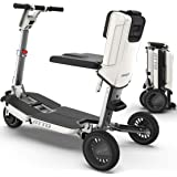 ATTO Folding Mobility Scooter by Moving Life, Full-Size Portable Electric Scooter for Adults, Lightweight Lithium Battery, Ai