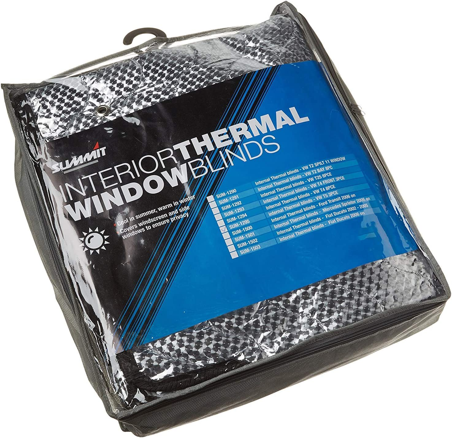 Summit SUM-1516 Internal Thermal Blinds to Fit VW Transporter T6 3 Piece Set
