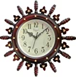 KITCHINDRA Siddharth Home Decorates Polycarbonate Round Wall Clock (Brown, 20x20 Inches)
