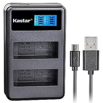 Kastar & Slim USB cargador de batería para Nikon EN-EL14, EN ...